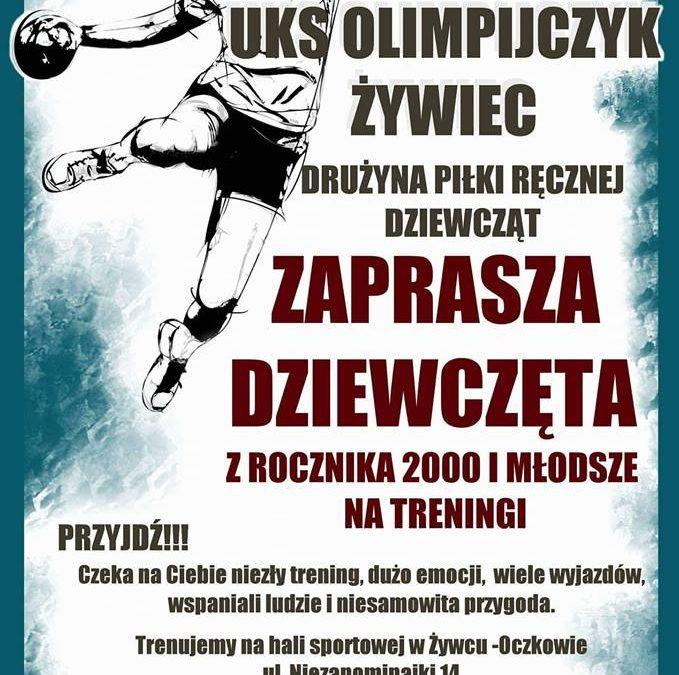 Zagraj w piłkę ręczną z UKS Olimpijczykiem Żywiec!
