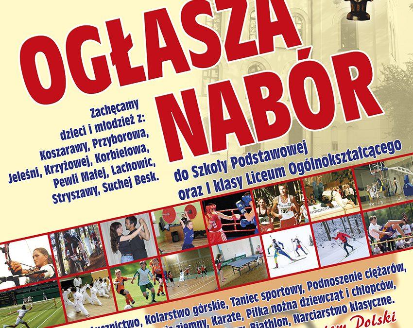 Nabór do naszej nowej szkoły w Koszarawie!